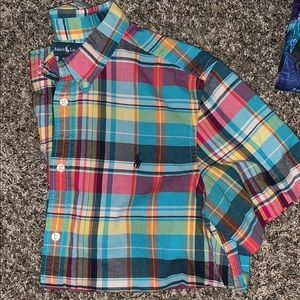 Polo Ralph Lauren plaid boys shirt 18-20